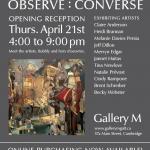 icon image Observe : Converse, Gallery M, Cambridge ON | Tina Newlove