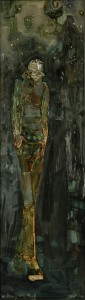 Walking into April, oil on Board, Tina Newlove, Latcham Gallery, 2008, Insubstantial