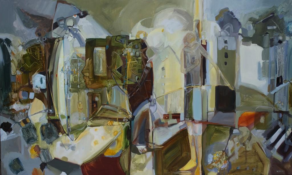 "Organizing My Mind, oil on canvas, 36 x 60"", 2016"