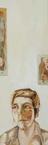 "Self Portrait 2016, oil on canvas, 36 x 12"""