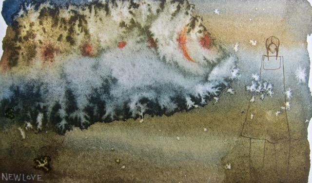 "Thought Cloud, watercolour art card, 4 x 6"", $65."